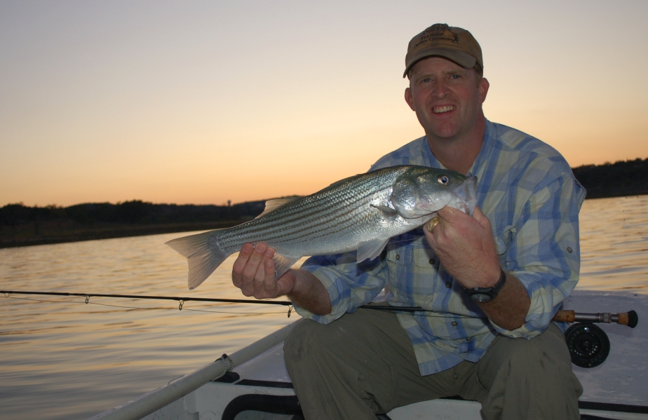 Jon Fisher with Canyon Lake striper