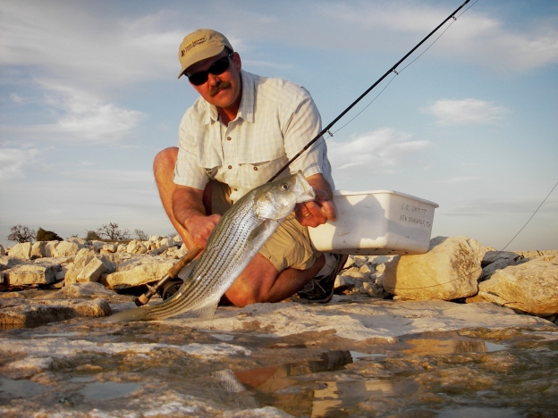 Casey Smartt with Canyon Lake Striper