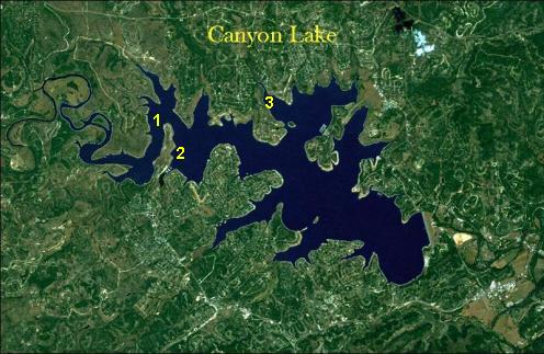 Canyon Lake Longnose Gar Holes
